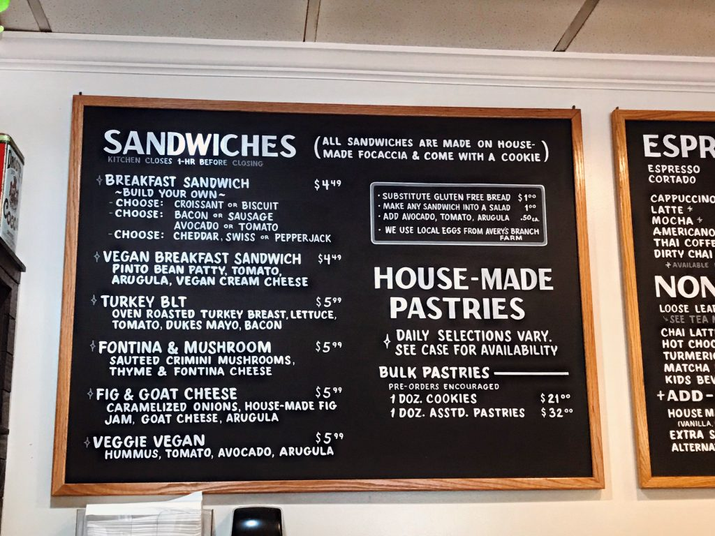 sugar and twine menu sandwiches